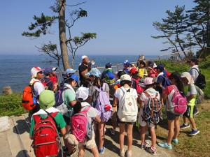 東京・啓明学園5年生、漁業の学習・被災地復興の学習のため南三陸町を訪れる